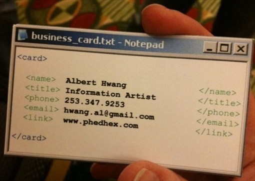 Notepad Style Business Card
