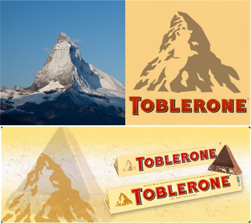 Secret and Hidden Message in Logo - Toblerone