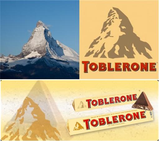 Secret and Hidden Message in Logo - Toblerone