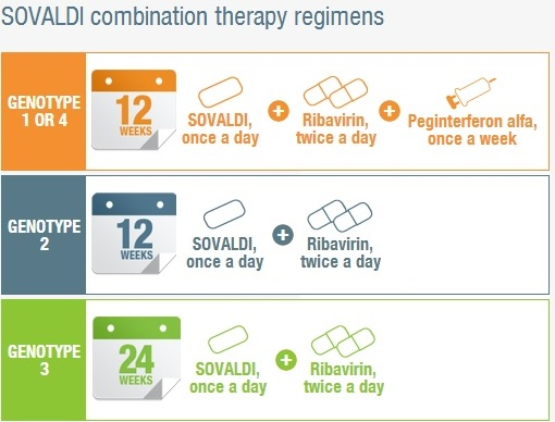Sovaldi - Hepatitis C Treatment - Genotype - Combination Therapy