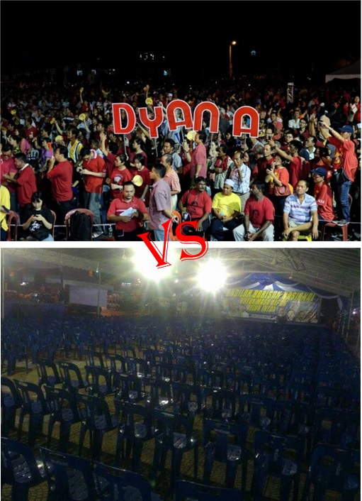 Teluk Intan - 2014 by-Election Dyana Fans vs BN fans