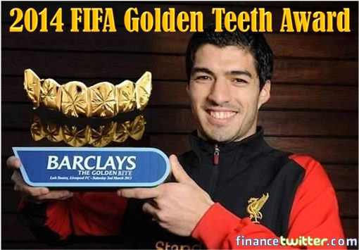 Uruguay Luis Suárez - 2014 FIFA Golden Teeth Award