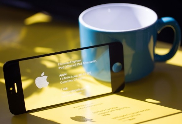 iPhone Screen Glass Business Card