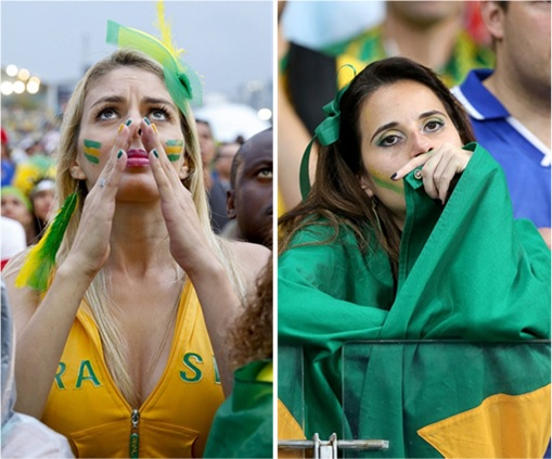 2014 FIFA World Cup - Brazil Lost 1-7 to Germany - Brazil Babes Dejected