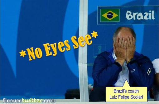 2014 FIFA World Cup - Brazil Lost 1-7 to Germany - Brazil Coach No Eyes See