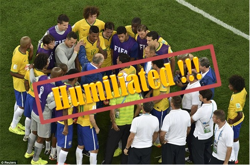 2014 FIFA World Cup - Brazil Lost 1-7 to Germany - Brazil Team Humilated
