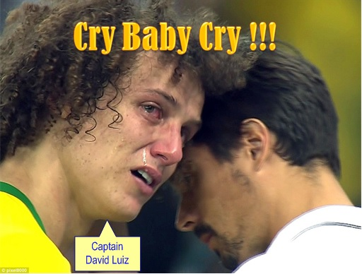 2014 FIFA World Cup - Brazil Lost 1-7 to Germany - Captain David Luiz Cries