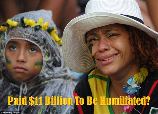 2014 FIFA World Cup - Brazil Lost 1-7 to Germany - Fans Cry - Paid $11 Billion to be Humiliated