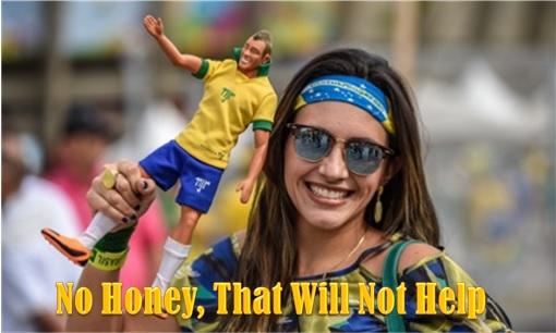 2014 FIFA World Cup - Brazil Lost 1-7 to Germany - Female Fan Holding Neymar