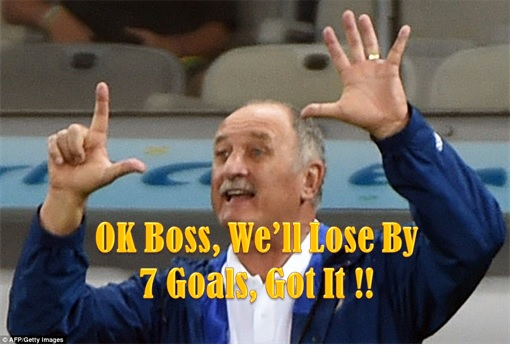 2014 FIFA World Cup - Brazil Lost 1-7 to Germany - Meme - Brazil Coach Says Seven Goals