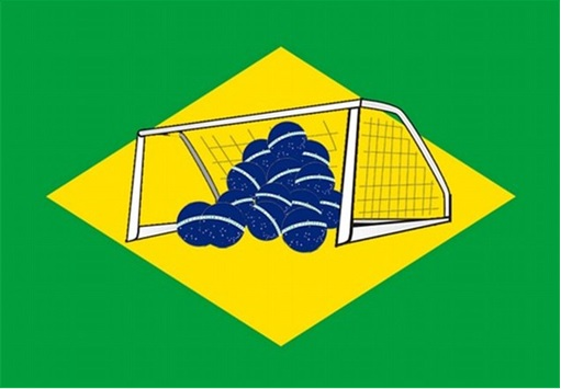 2014 FIFA World Cup - Brazil Lost 1-7 to Germany - Meme - Brazil Flag