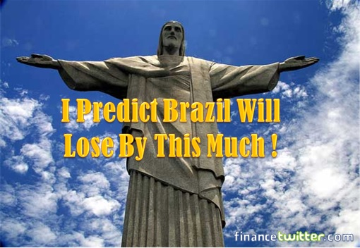 2014 FIFA World Cup - Brazil Lost 1-7 to Germany - Meme - Christ the Redeemer Predicts Brazil Losses