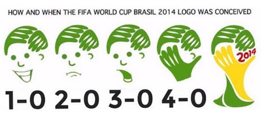 2014 FIFA World Cup - Brazil Lost 1-7 to Germany - Meme - How Logo Designed