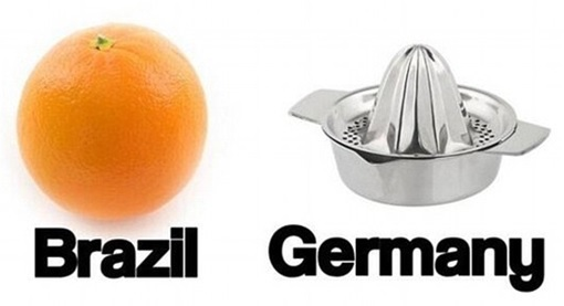 2014 FIFA World Cup - Brazil Lost 1-7 to Germany - Meme - Orange and Squeezer