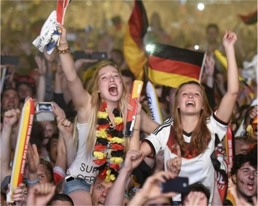 2014 FIFA World Cup - Germany Celebrates 1-0 Win Against Argentina - 11