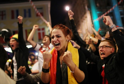 2014 FIFA World Cup - Germany Celebrates 1-0 Win Against Argentina - 12