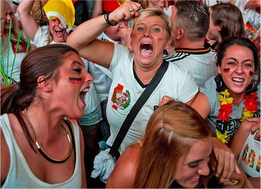 2014 FIFA World Cup - Germany Celebrates 1-0 Win Against Argentina - 2
