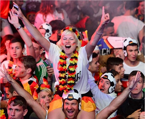 2014 FIFA World Cup - Germany Celebrates 1-0 Win Against Argentina - 6