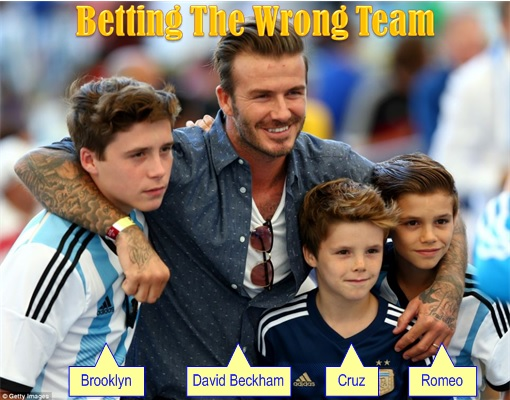 2014 FIFA World Cup - Germany Celebrates 1-0 Win Against Argentina - Beckham Family Betting Wrong Team