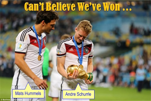 2014 FIFA World Cup - Germany Celebrates 1-0 Win Against Argentina - Can't Believe We've Won