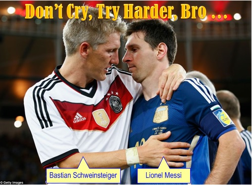 2014 FIFA World Cup - Germany Celebrates 1-0 Win Against Argentina - Don't Cry Messi, Try Harder