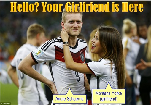 2014 FIFA World Cup - Germany Celebrates 1-0 Win Against Argentina - Hello Your Girlfriend is Here