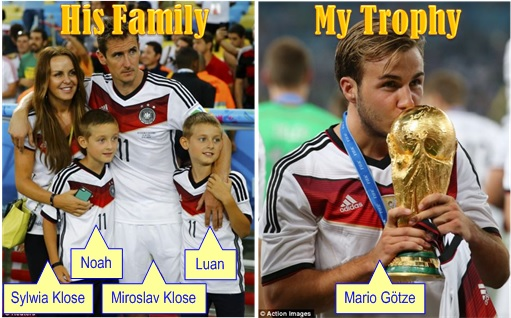2014 FIFA World Cup - Germany Celebrates 1-0 Win Against Argentina - His Family My Trophy
