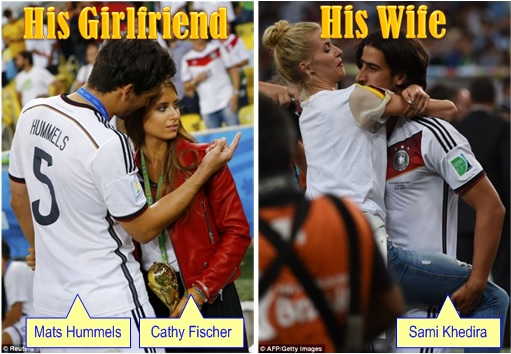 2014 FIFA World Cup - Germany Celebrates 1-0 Win Against Argentina - His Girlfriend His Wife