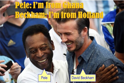 2014 FIFA World Cup - Germany Celebrates 1-0 Win Against Argentina - Jokes - Pele from Ghana, Beckham from Holland
