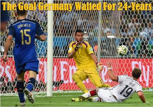 2014 FIFA World Cup - Germany Celebrates 1-0 Win Against Argentina - Mario Gotze Scores - 1