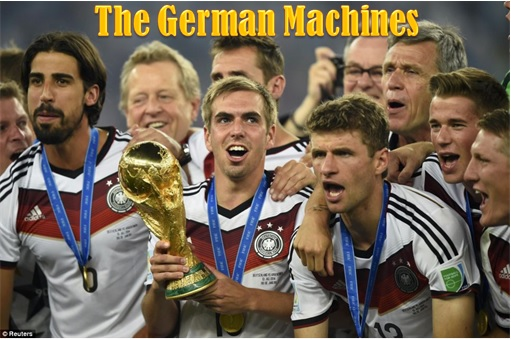 2014 FIFA World Cup - Germany Celebrates 1-0 Win Against Argentina - The German Machines