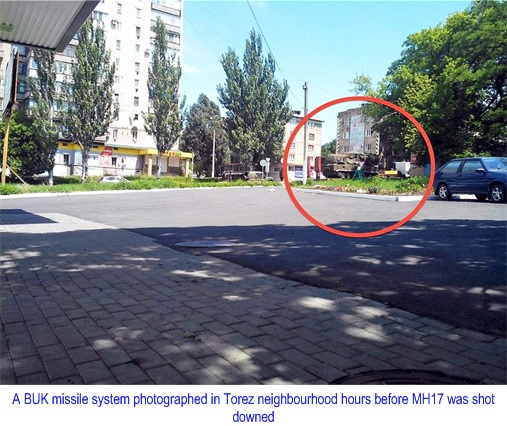Buk M1 - SA-11 Gadfly Missile Systems Spotted in Torez Neighbourhood
