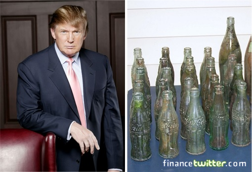 Donald Trump Collected Bottles