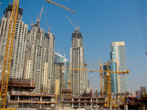Dubai Constructions Cranes