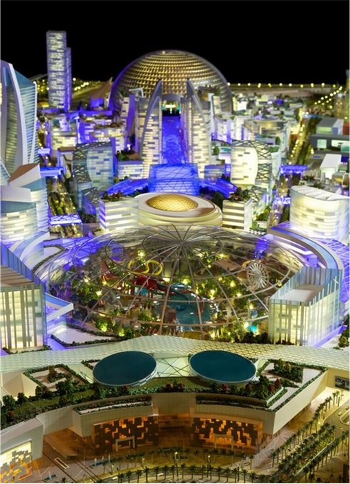 Dubai's Mall Of The World - world's first temperature-controlled city 2