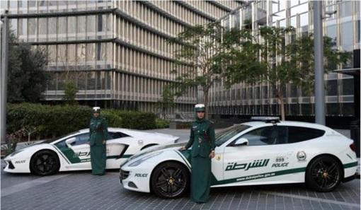 Exotic Dubai Police Force's Fleet of Supercars - Ferrari FF 1