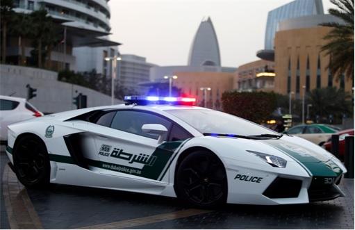 Exotic Dubai Police Force's Fleet of Supercars - Lamborghini Aventador 1