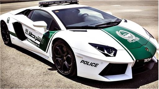 Exotic Dubai Police Force's Fleet of Supercars - Lamborghini Aventador 2