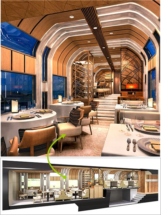 Ferrari Designer and Japan Seven-Star Train -  Restaurant