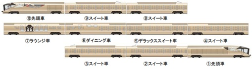 Ferrari Designer and Japan Seven-Star Train - Ten Carriages
