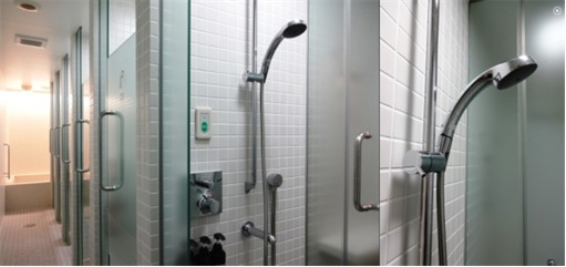 Japan Nine Hours Capsule Hotels - Inside Shower Rooms