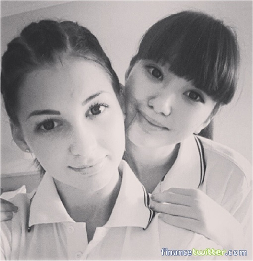 Kazakhstan Sabina Altynbekova - Volleyball Player Babe - black white photo with friend