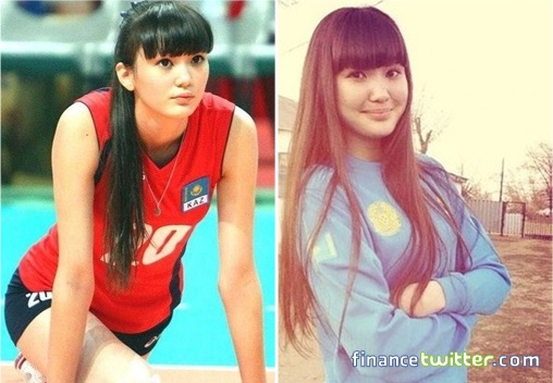 Kazakhstan Sabina Altynbekova - Volleyball Player Babe - warming up and casual wear