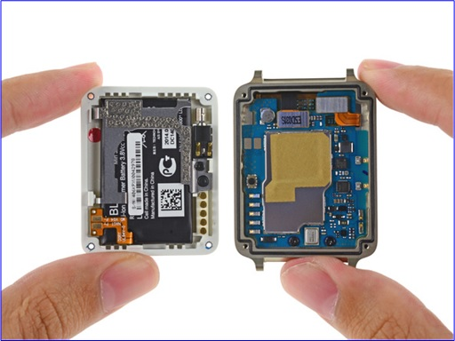 LG G Watch - Top and Bottom Parts