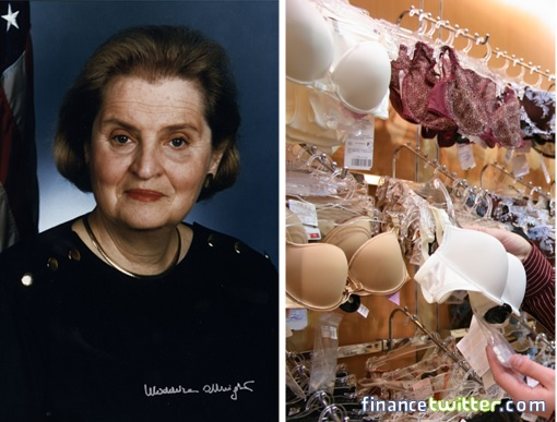 Madeleine Albright Sold Bras