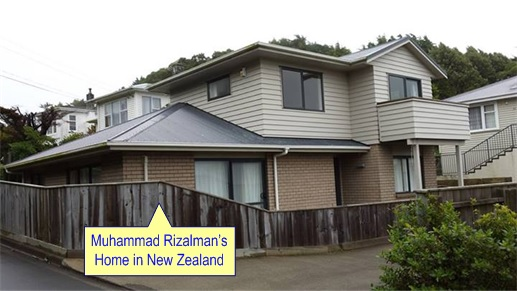 Malaysian Diplomat Rape Case in New Zealand - Muhammad Rizalman bin Ismail Home - Photo