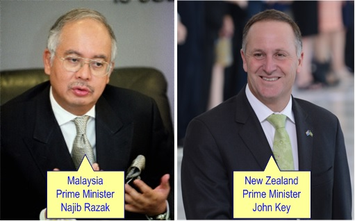 Malaysian Diplomat Rape Case in New Zealand - Najib Razak and John Key