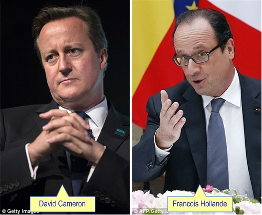 Malaysian Flight MH17 Shot Down - David Cameron and Francois Hollande