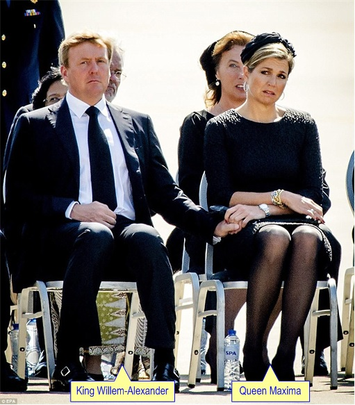 Malaysian Flight MH17 Shot Down - Victims Arrive in Holland - King Willem-Alexander and Queen Maxima 2