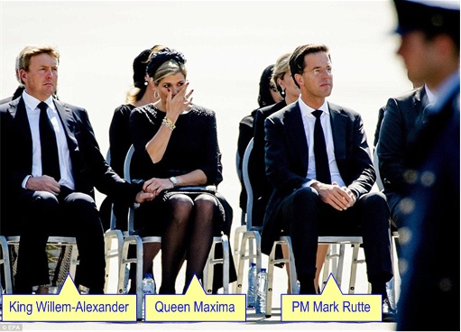 Malaysian Flight MH17 Shot Down - Victims Arrive in Holland - King Willem-Alexander and Queen Maxima
